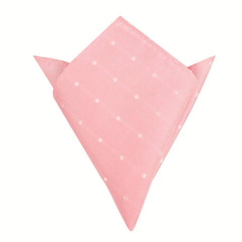 Baby Pink with White Polka Dots Pocket Square