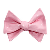 Baby Pink with White Polka Dots Self Tie Bow Tie 3