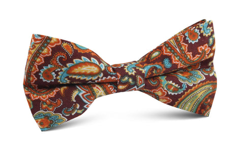 Baku Paisley Orange Bow Tie