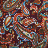 Baku Paisley Orange Fabric Pocket Square