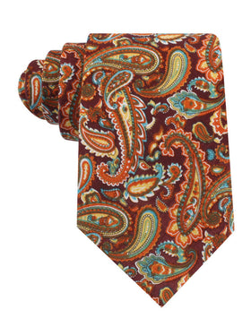 Baku Paisley Orange Tie