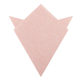 Ballet Blush Pink Chambray Linen Pocket Square