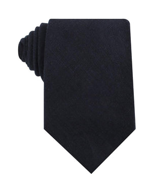 Baltic Sea Midnight Blue Linen Necktie