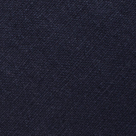 Baltic Sea Midnight Blue Linen Pocket Square