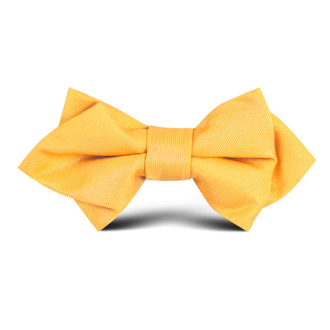 Banana Yellow Kids Diamond Bow Tie