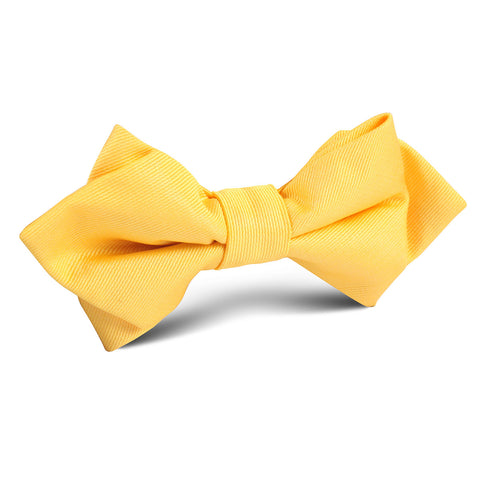 Banana Yellow Diamond Bow Tie