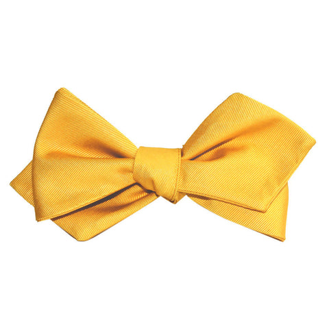Banana Yellow Self Tie Diamond Tip Bow Tie