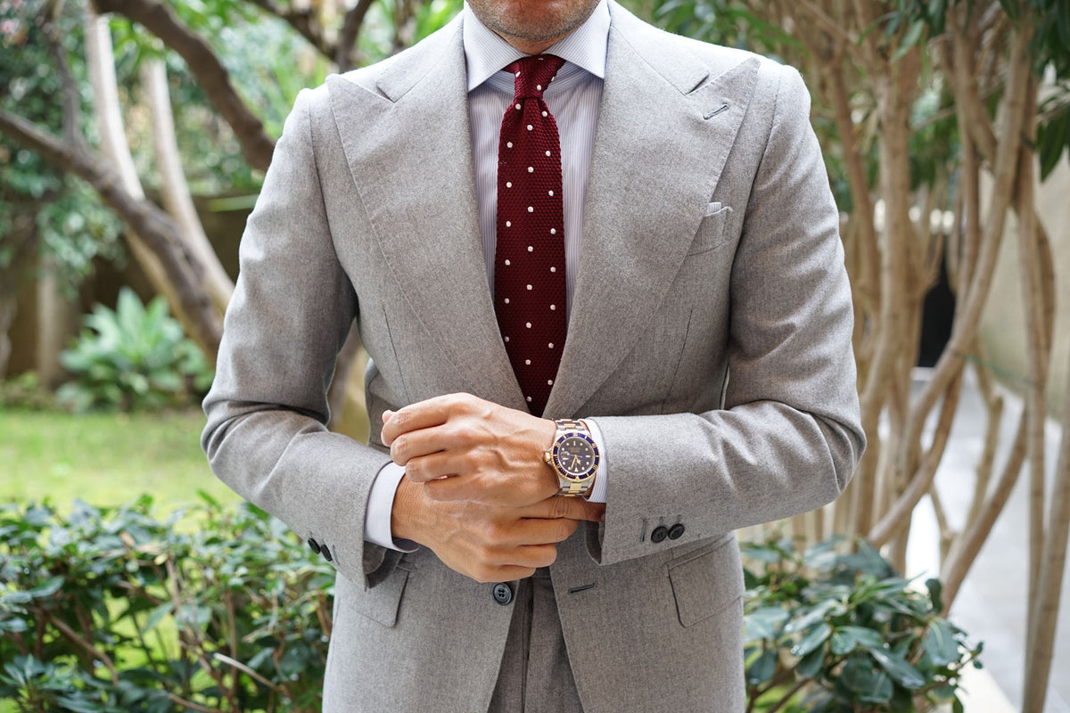 Barbados Burgundy Knitted Tie