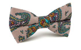 Bay of Kotor Light Brown Paisley Bow Tie