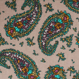 Bay of Kotor Light Brown Paisley Necktie Fabric