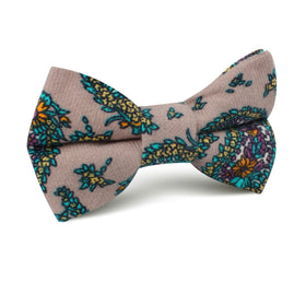Bay of Kotor Light Brown Paisley Kids Bow Tie