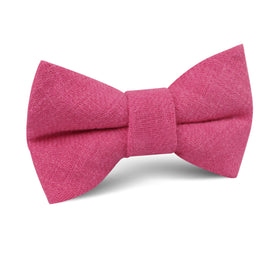 Begonia Hot Pink Linen Kids Bow Tie