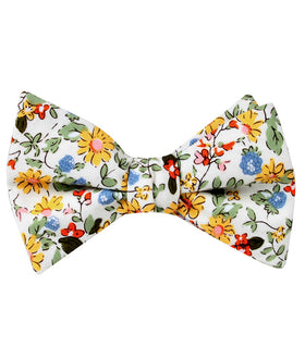 Belle Danser Floral Self Bow Tie