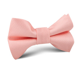Bellini Peach Weave Kids Bow Tie