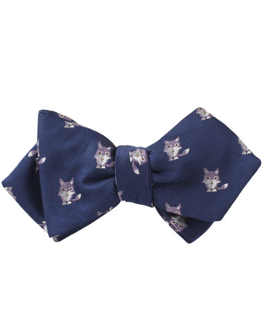 Bengal Wolf Diamond Self Bow Tie
