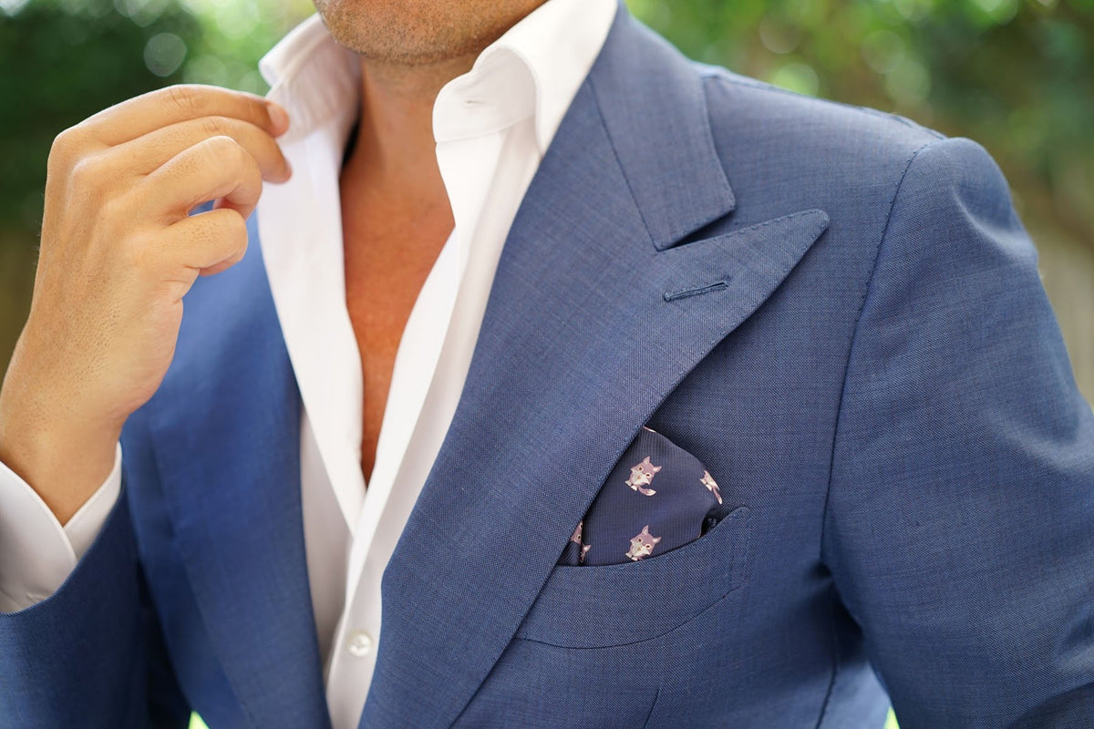 Bengal Wolf Pocket Square