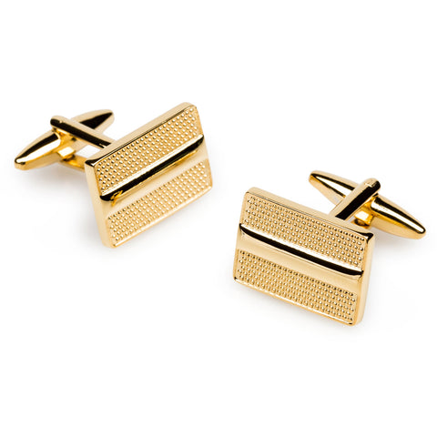 Benito Gold Rectangle Cufflinks
