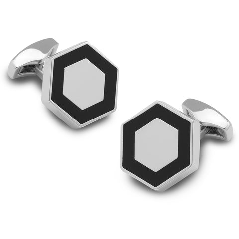 Bermuda Hexagon Cufflinks