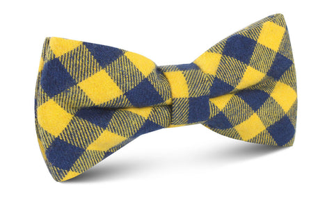 Bert Yellow Gingham Bow Tie