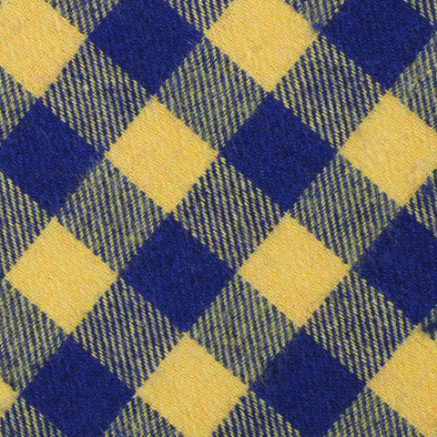 Bert Yellow Gingham Pocket Square