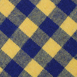 Bert Yellow Gingham Fabric Self Bowtie