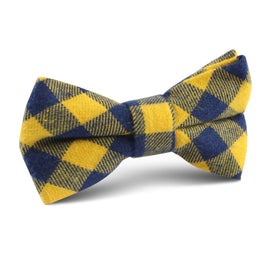 Bert Yellow Gingham Kids Bow Tie