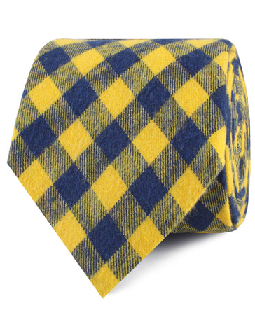 Bert Yellow Gingham Tie