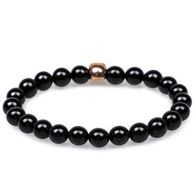 Binnacle Black Onyx Rose Gold Skull Bracelet