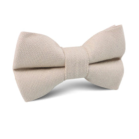 Biscotti Cream Linen Kids Bow Tie