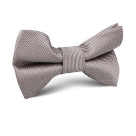 Biscotti Grey Weave Kids Bow Tie