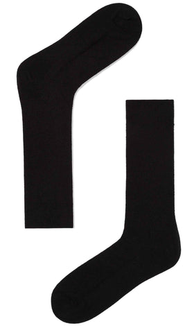 Black Textured Cotton-Blend Socks