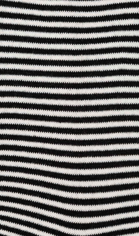 Black & White Thin Pinstripes Cotton-Blend Socks