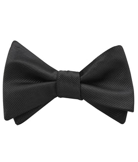 Black Twill Self Bow Tie