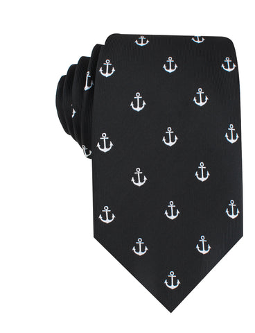 Black Anchor Necktie