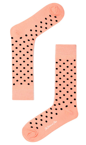 Black Caviar Pink Dot Socks