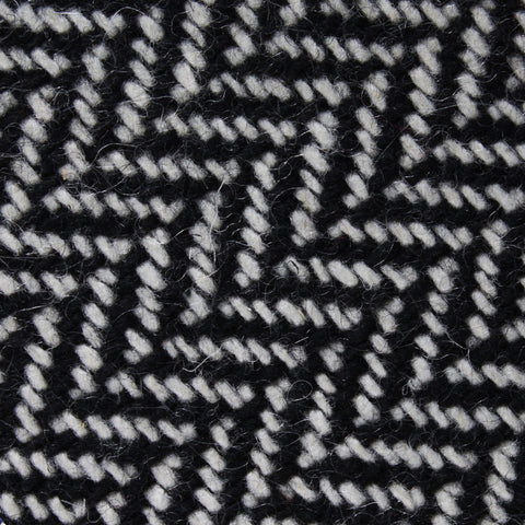Black Chevron Wool Pocket Square