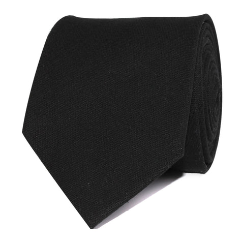 Black Cotton Necktie