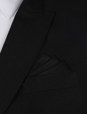 Black Cotton Pocket Square