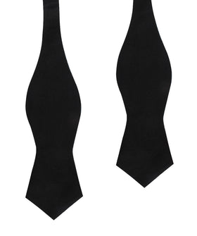 Black Cotton Self Tie Diamond Bow Tie