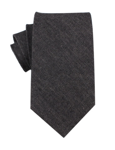 Black Denim Jeans Cotton Necktie