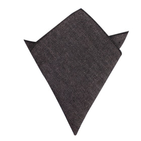 Black Denim Jeans Cotton Pocket Square