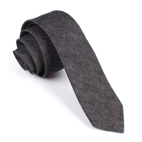 Black Denim Jeans Cotton Skinny Tie