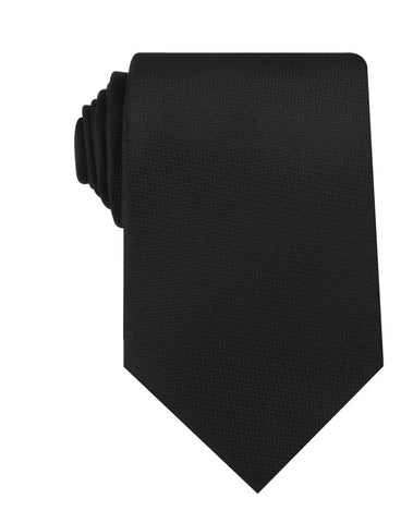 Black Diagonal Herringbone Necktie
