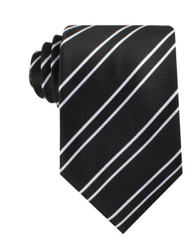 Black Double Stripe Necktie