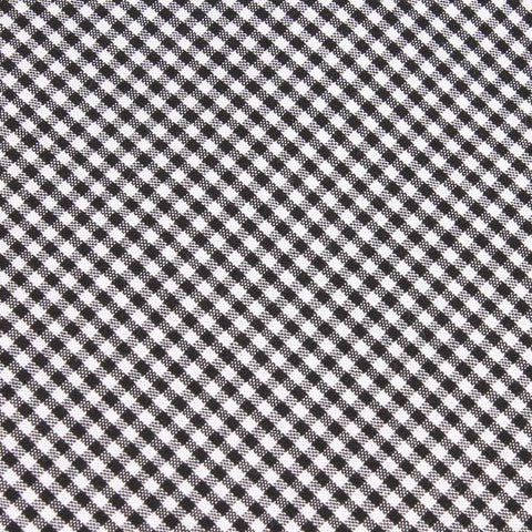 Black Gingham Cotton Pocket Square