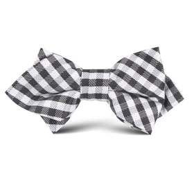 Black Gingham Kids Diamond Bow Tie