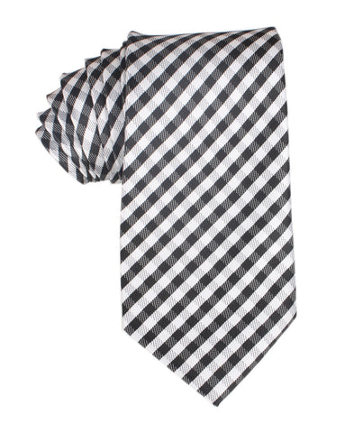 Black Gingham Necktie