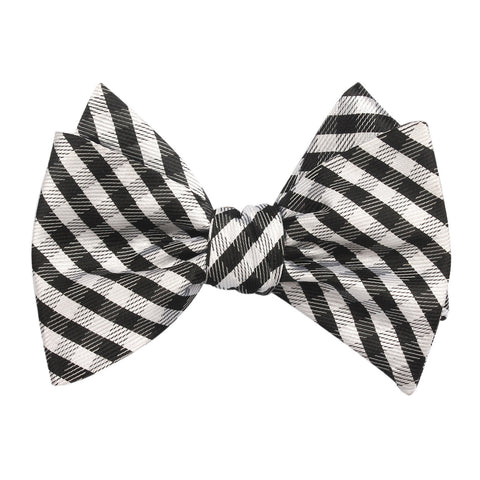 Black Gingham Self Tie Self Tie