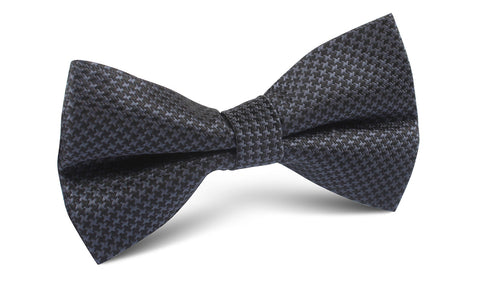 Black Houndstooth Pattern Bow Tie