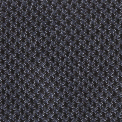 Black Houndstooth Pattern Self Tie Diamond Tip Bow Tie